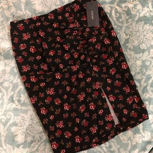 Zara floral pencil skirt M NWT